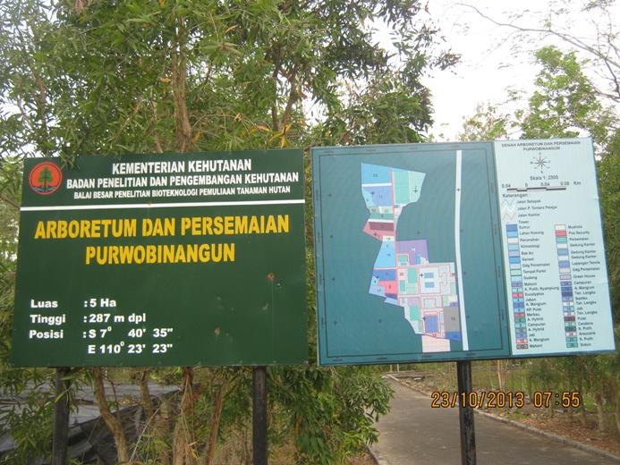 Peta Kawasan Balai Penelitian Bioteknologi dan Pemuliaan Tanaman Hutan