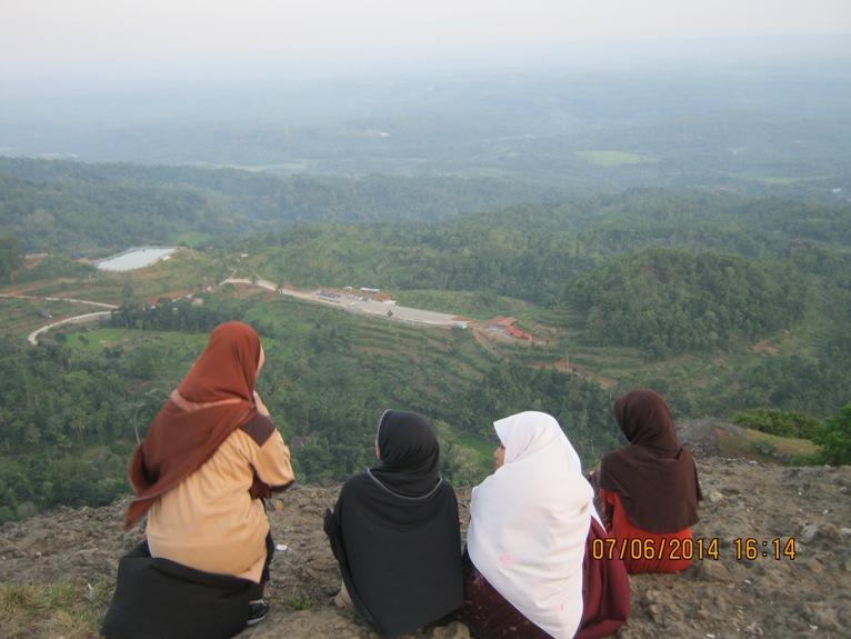 Panorama embung dan Agrowisata Patra-Nglanggeran