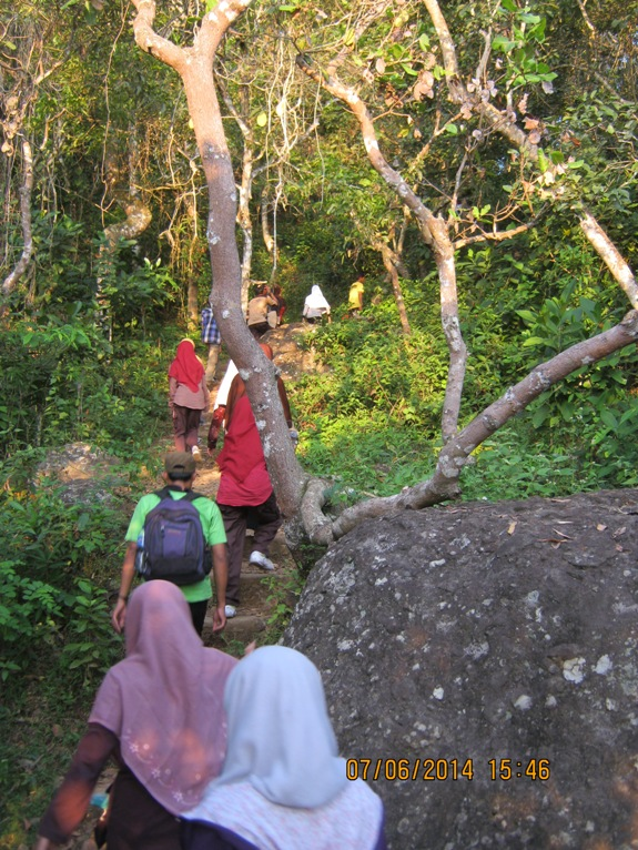 Kawasan hutan alami di lereng Nglanggeran
